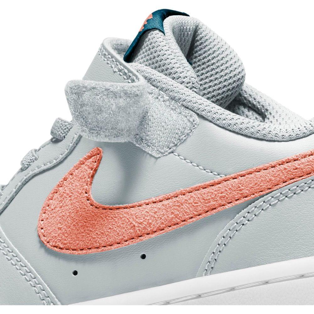 Nike dětská obuv Court Borough Low 2 BQ5451-009 35, šedá