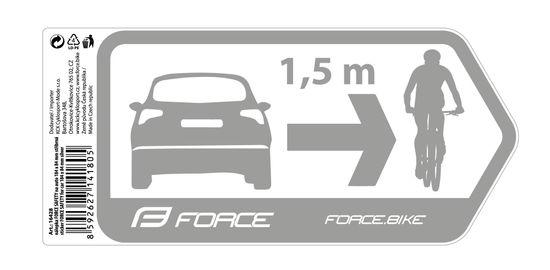 Force Nálepka SAFETY na auto 184 x 84 mm - stříbrná