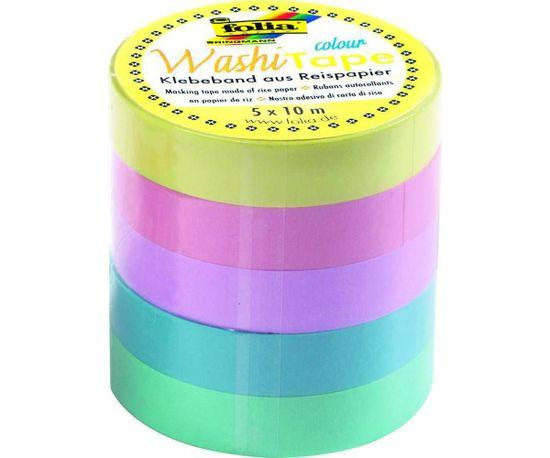Kraftika Washi tape - dekorační lepicí páska - sada 5 pásek -