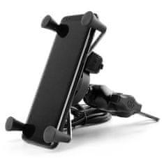 Hliníkový držiak telefónu s USB nabíjačkou-pre veľké uhlopriečky