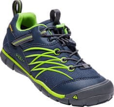KEEN gyerek túracipő CHANDLER CNX WP Y DRESS BLUES/GREENERY, 24, sötétkék