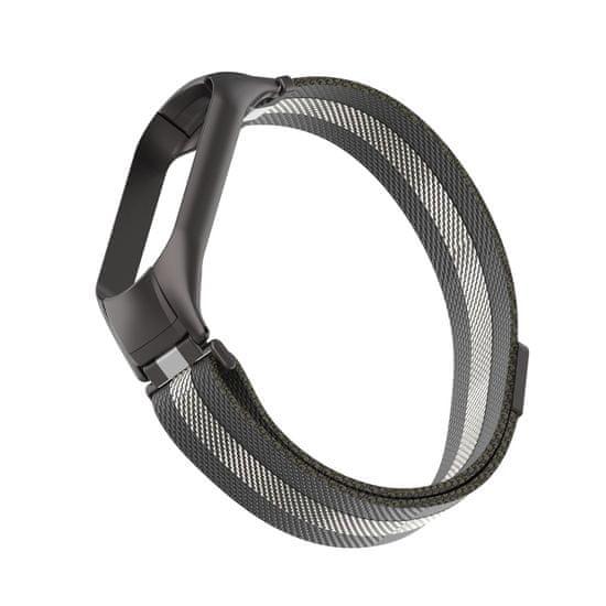 MAX nadomestni pašček za MiBand 5 MXS55, črno-srebrni