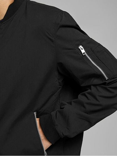Jack&Jones Pánská bunda JJERUSH 12165203 Black