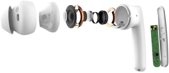 Mobvoi TicPods brezžične slušalke ANC, bele