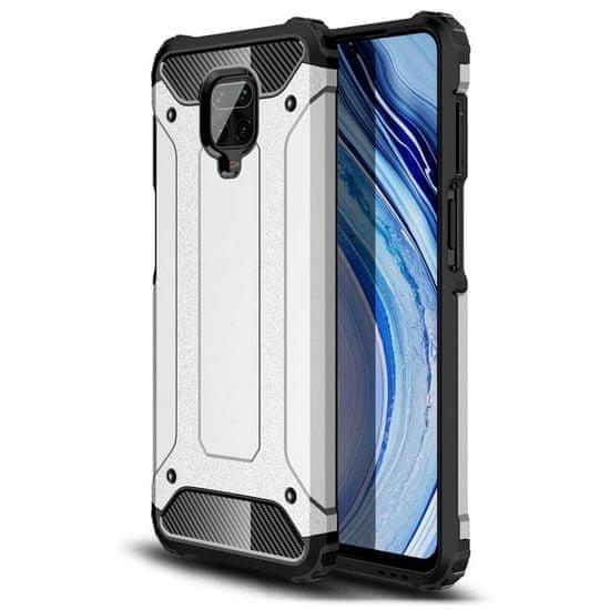 MG Hybrid Armor plastika ovitek za Xiaomi Redmi 10X 4G / Redmi Note 9, srebrna