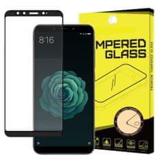 MG Full Glue Super Tough zaščitno steklo za Xiaomi Mi A2 / Mi 6X, črna
