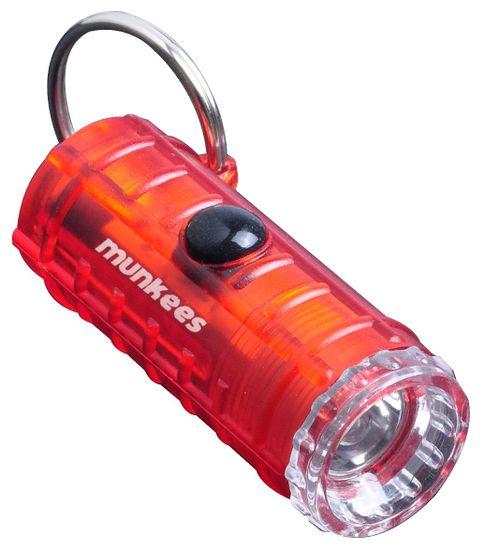 Munkees LED mini svítilna se 4 režimy svícení