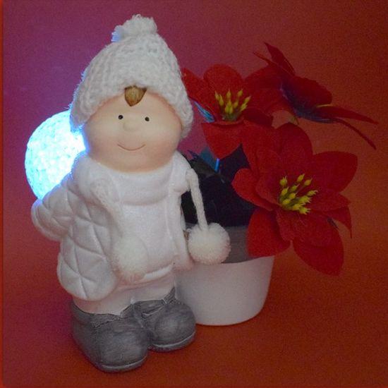 DUE ESSE Kluk se svítící koulí a květináčem měnící barvu, 15 cm, typ 3