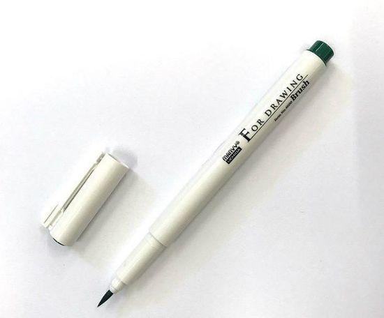 Marvy Technický popisovač (1ks) zelený štětcový (brush),