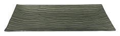 DUE ESSE Dekorační skleněný stříbrný perleťový podnos, 33,5 × 16,5 cm