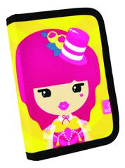 Lil Ledy peresnica Cabaret, 14 x 20 x 3,5 cm, 1 zadrga, 2 preklopa, prazna, roza