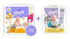 Bella Happy 2 Mini Big Pack (3-6 kg) 312 db (4x78 db)