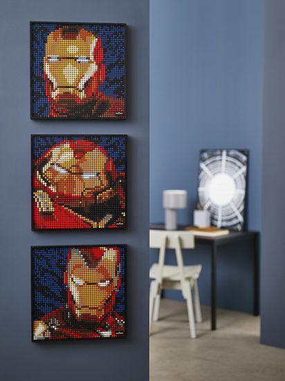 LEGO Art 31199 Iron Man z wytwórni Marvel Studios