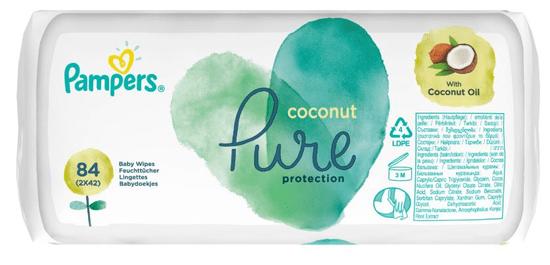 Pampers otroški čistilni robčki Coconut Pure 2x 42ks