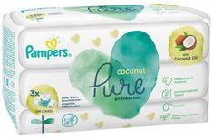 Pampers Detské Čistiace Obrúsky Coconut Pure 3x 42 ks