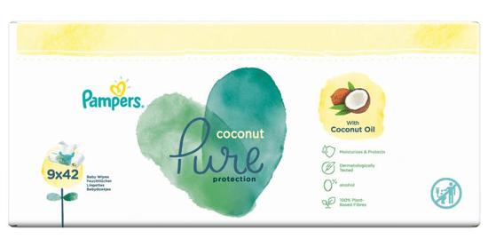 Pampers Dětské Čisticí Ubrousky Coconut Pure 9x 42 ks