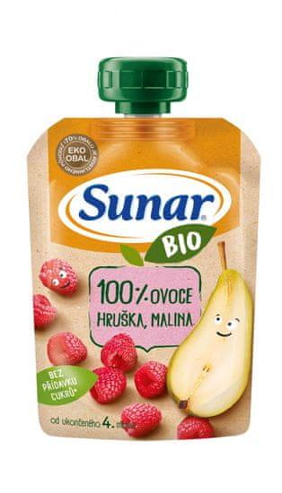 Sunar BIO kapsička Hruška, malina 12x100g