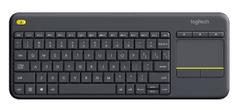 Logitech K400 Plus brezžična tipkovnica, črna