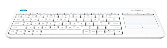 Logitech K400 Plus brezžična tipkovnica, bela