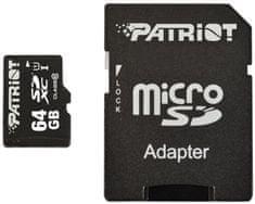 Patriot spominska kartica Micro SDXC 64 GB + adapter