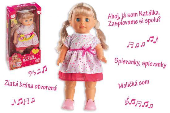 Teddies Bábika Natálka chodiaca a slovensky spievajúca