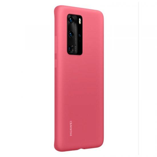 Huawei P40 Pro ovitek, silikonski, rdeč