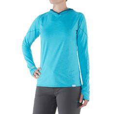 NRS H2Core Silkweight ženska majica s kapuco, svetlo modra, XS
