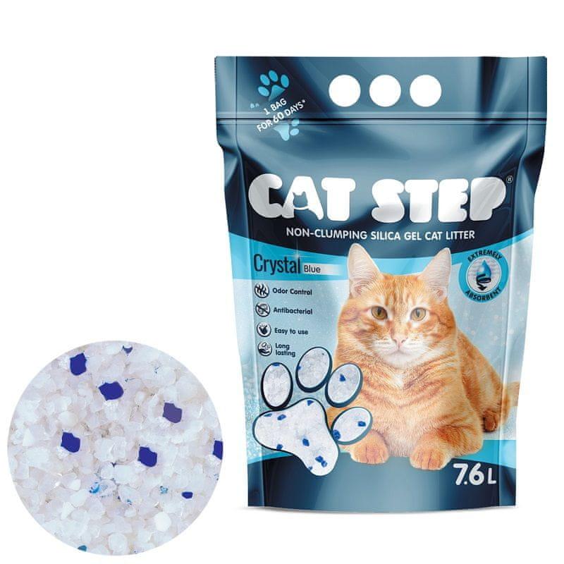 CAT STEP Crystal Blue silikátové stelivo 3,34 kg