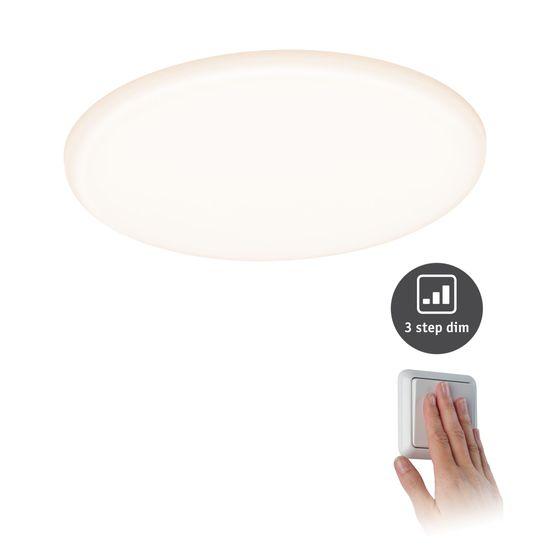 Paulmann Paulmann LED vstavané svietidlo Veluna VariFit IP44 3-krokové-stmievateľné kruhové 185 17W 3.000K satén 930.63 93063