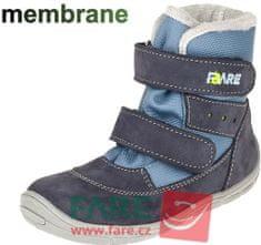 Fare bare chlapecká zimní obuv 5441201 23 modrá