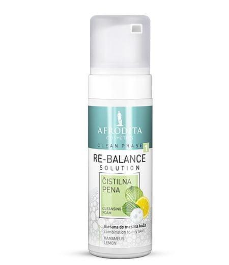 Kozmetika Afrodita Clean Phase Re-Balance pjena za čišćenje, za mješovitu i masnu kožu, 150 ml