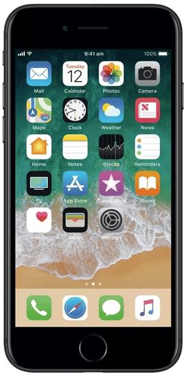 Apple Refurbished iPhone 7, 32GB, Matte Black