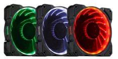 Ventilátor LED 12cm RGB (18 Leds)