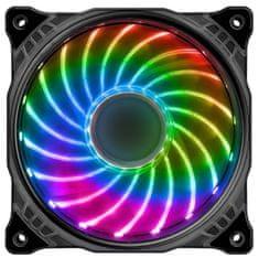 Ventilátor LED 12cm RGB (18 Leds) full colors