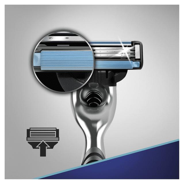 Gillette Dárkové Balení Mach3 Holicí Strojek + Hlavice + Gel Na Holení