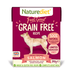 Naturediet Feel Good Grain Free Salmon pasja hrana, 390 g