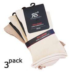 RS Dámské zdravotní hladké ponožky bez gumiček a lemu 34159 3-pack, béžová, 35-38