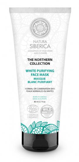 Natura Siberica Severská biela čistiaca maska na tvár