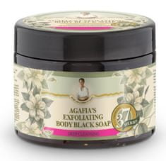 Natura Siberica Agafja exfoliačné telové čierne mydlo