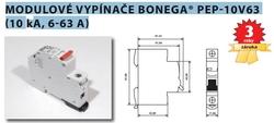 Bonega Vypínač modulární na DIN lištu Bonega 25A 3P třímodulový PEP 10V63