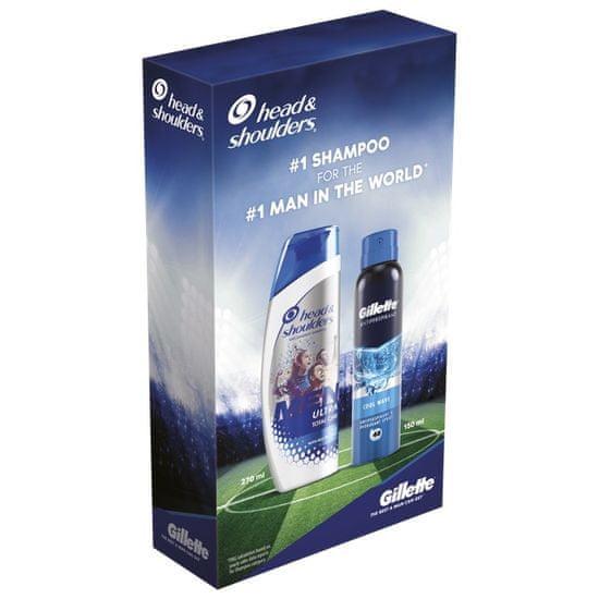 Old Spice Head & Shoulders Men Ultra Total Care šampon 270 ml + Gillette Cool Wave antiperspirant 150 ml