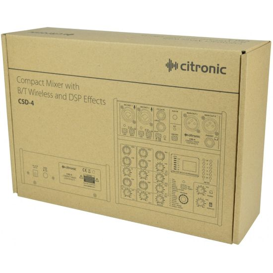 Citronic CSD-4 Kompaktní mixážní pult s Bluetooth a DSP