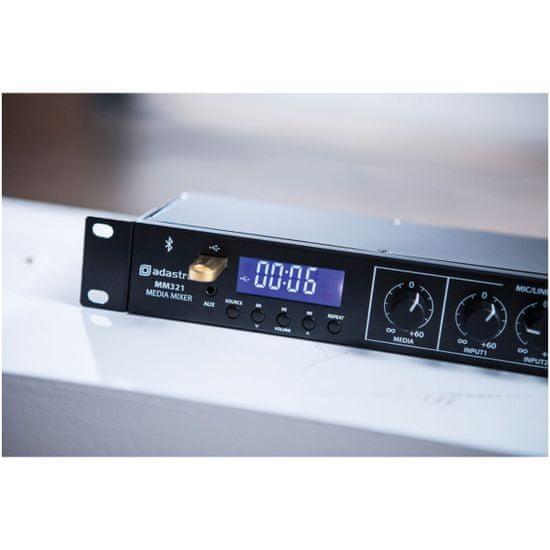 Adastra MM321, rackový mixážní pult, BT/MP3/FM