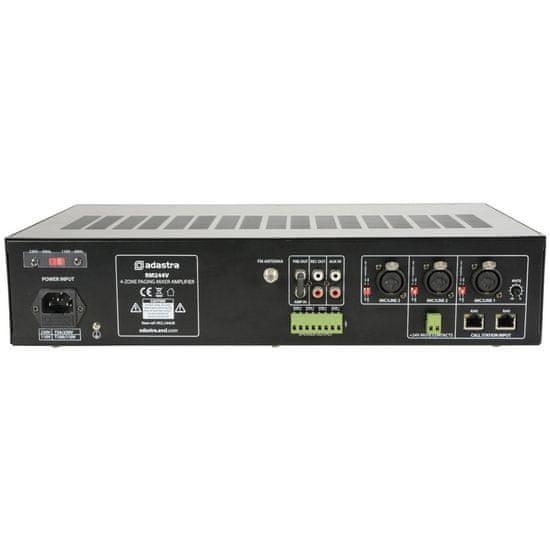 Adastra RM244V, mixážní 4-zónový 100V zesilovač, 240W, BT/MP3/FM
