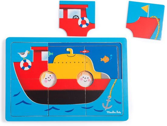 Moulin Roty Puzzle Ponorka tři v jednom