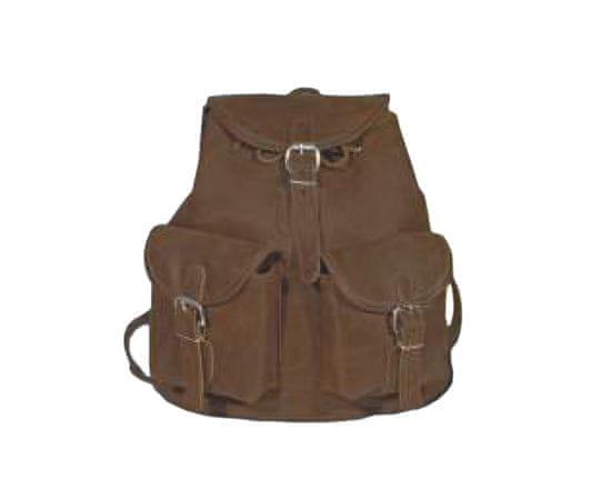 Garbacz batoh P2D-2, střední - kožený, hnědý