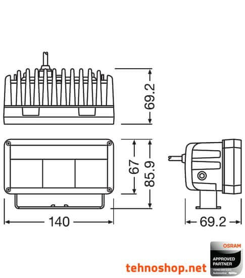 Osram LED DELOVNA LUČ LEDriving® LIGHTBAR MX140-SP 30/2W 12/24V LEDDL102-SP (4052899595293)