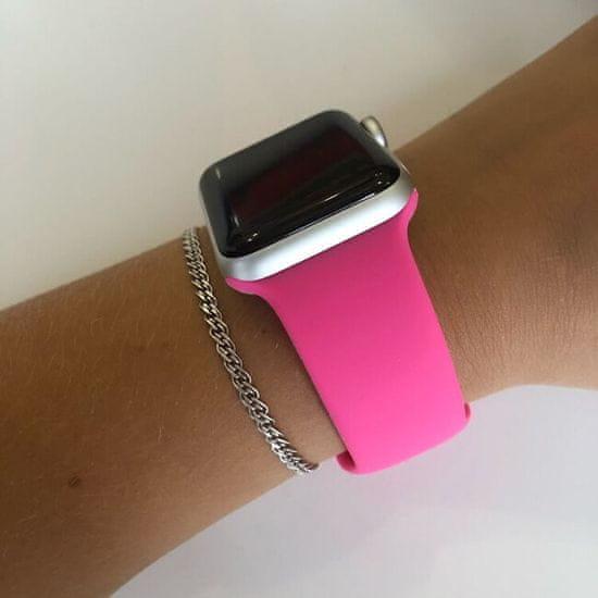 4wrist Szilikon szíj Apple Watch - Barbie rózsaszín 42/44 mm- S/M