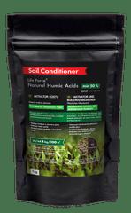 Life Force Natural Humic Acids pro obnovu úrodnosti půdy, aktivátor půdy, zvláště vhodný i pro pokojové rostliny oslabené a zanedbané, 1 kg.