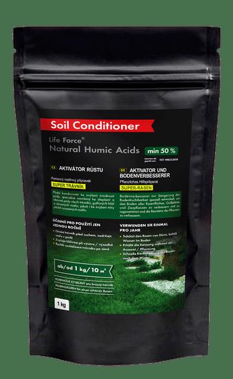 Life Force Natural Humic Acids Super Trávník, organické hnojivo na trávník, aktivátor půdy, 1 kg